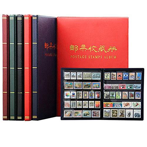 HYDD postzegel-verzamelalbum, insteekboek stempel, 10 zwarte pagina's, beschermhoes van transparant PP, kan stofdicht, vochtbestendig en valt niet gemakkelijk uit, meerdere kleuren