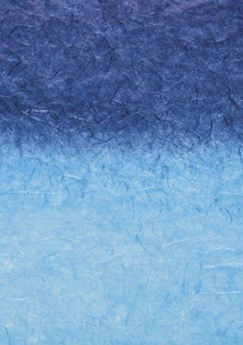 Baier & Schneider Japan-Faserpapier Strohseide Regenbogen mit Farbverlauf, 25 g/m, 700 x 1500 mm,
