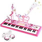 BAOLI 49 Keys Kids Keyboard Piano Toy with Microphone for Beginners,Multifunctional Musical Instruments for Toddlers, Electronic Learning Keyboard Toy Piano Gifts for 1 2 3 4 5 6 7 Year Old Girls Boys
