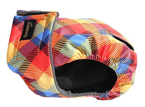 Glenndarcy Weibliche Hundewindeln - Waschbar - Rainbow Medium Long and 2 Washable Pads