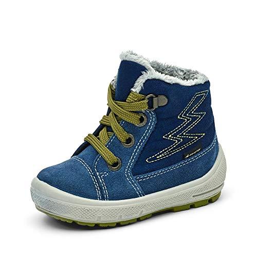 Superfit Baby Jungen Groovy Schneestiefel, Blau Hellgrün 8010, 21 EU