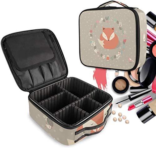 Cosmetische HZYDD Leuke Sneeuw Vos make-up tas Toilettas Rits Make-up Tassen Organizer Pouch voor Gratis Compartiment Vrouwen Meisjes tas