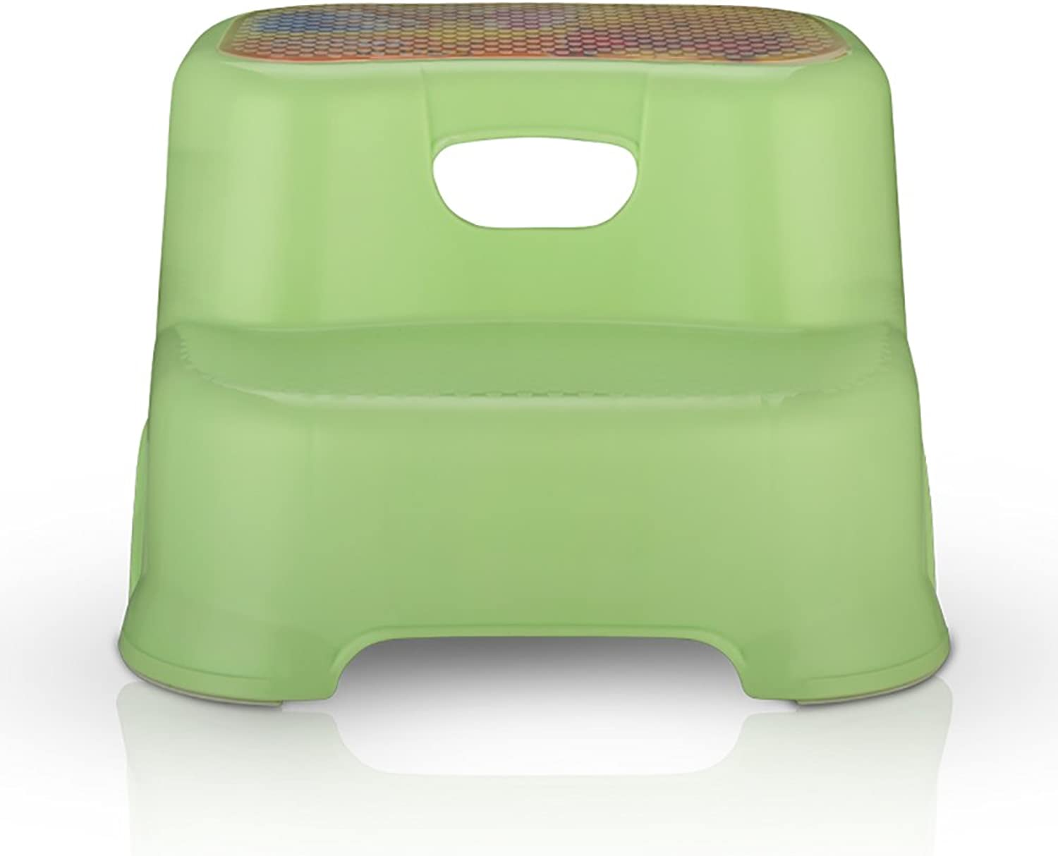 Toddler Step Stool  2 Step Stool For Kids Washstand Ladder Stool For Kids Toddler's Stool For Potty Training And Use In The Bathroom Or Kitchen (color   GREEN)