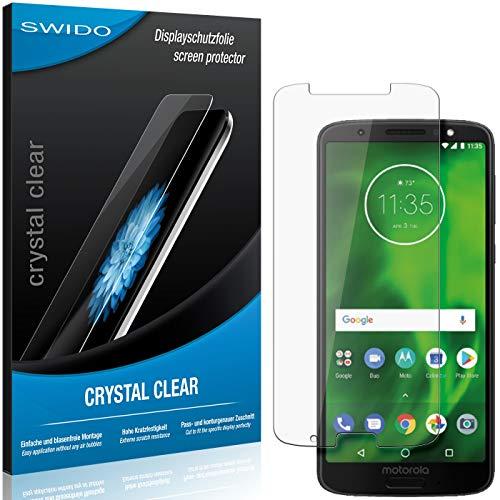 SWIDO Schutzfolie für Motorola Moto G6 Plus [2 Stück] Kristall-Klar, Hoher Festigkeitgrad, Schutz vor Öl, Staub & Kratzer/Glasfolie, Bildschirmschutz, Bildschirmschutzfolie, Panzerglas-Folie
