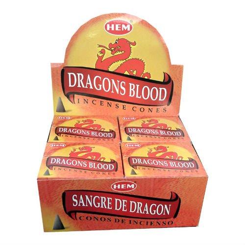 hem-incenso Coni–Dragons Blood o sangue del drago–Set di 3scatole di 10coni–Consegna Gratuita