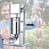 Embutidoras De Salchicha 3 LB / 2L Máquina de relleno de relleno de salchicha Máquina hecha para el hogar de acero inoxidable Vertical Salchicha vertical con 4 talla de llenado Boquillas accesorios y