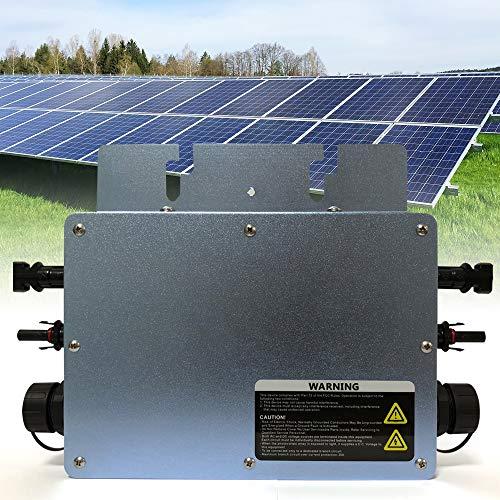 MPPT Micro Wechselrichter Grid Tie Inverter Mikrowechselrichter 600W Waterproof Modulwechselrichter WVC-600, Blau