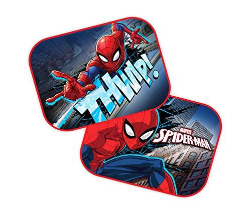 Theonoi Lot de 2 pare-soleil pour voiture - Motif : Mickey - Cars - Star Wars Winnie / UV - Cadeau pour garçon (2 x Spiderman)