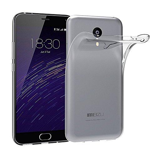 REY Funda Carcasa Gel Transparente para MEIZU M2 Note Ultra Fina 0,33mm,...