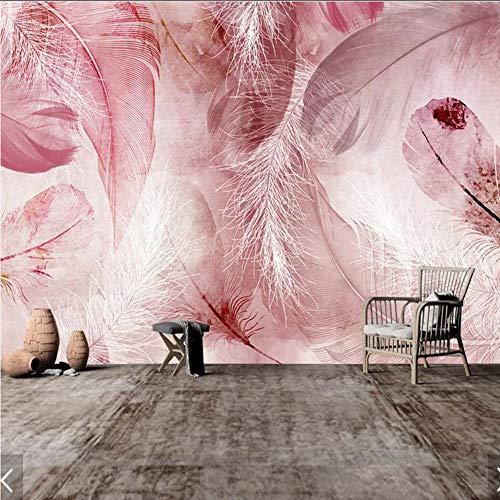 Cczxfcc 3D abstracte veer Hd Print behang muurschilderingen voor woonkamer sofa achtergrond wanddecoratie elke grootte papel pintado rolgordijn 300 cm x 210 cm.