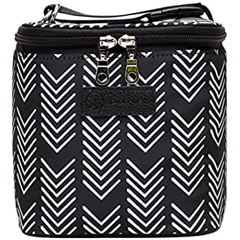 Sarah Wells Cold Gold Breastmilk Cooler Bag with Ice Pack (Black and White)