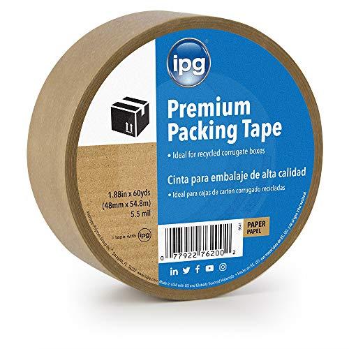IPG 9341 Kraft Paper Flatback Premium Packing Tape, 1.88