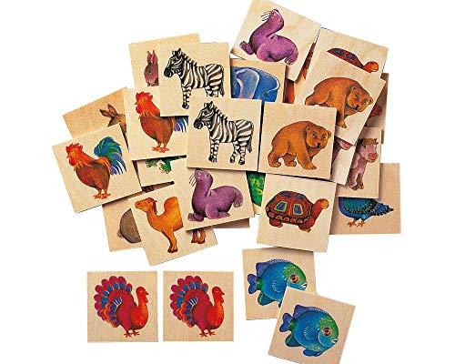 Selecta 63008 Memo Zoo, Legespiel, 36 Teile mehrfarbig