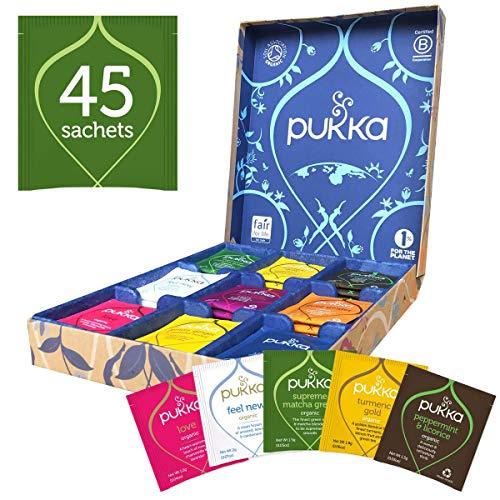 Pukka Herbs Tea Selection Gift Box, Organic Herbal Teas, Great Birthday Present (45 Sachets)