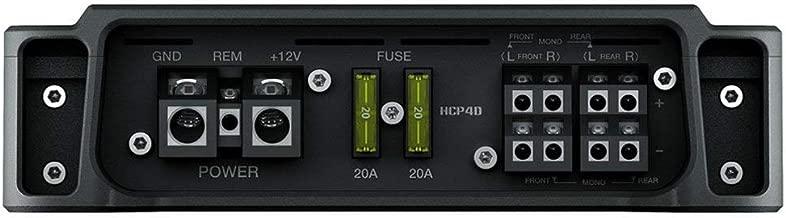 Hertz HCP4D 1160 Watt Compact Class D 4 Chanel Car Audio Amp Amplifier HCP-4D (Renewed)