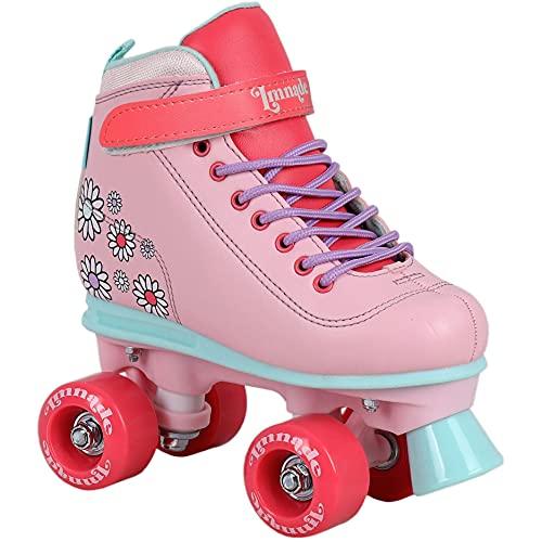 LMNADE Vibe Semi-Soft Vegan-Friendly Kids Recreational Roller Skates -...