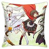 NR Anime Throw Pillow Covers 18 '' X 18 '' Zoll Jessie-Square Form Dekorative Kissenbezug für Couch...