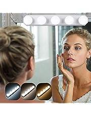 Cosmetische spiegel draagbare lampen, 5 LED spiegellamp met USB, 3 kleurmodi make-up licht, spiegellamp, make-up lamp voor cosmetische spiegel badkamer - kleurtemperatuur instelbaar