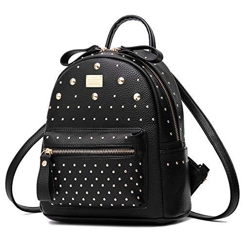Jywmsc Damen PU Leder Rucksack Diebstahlsicherung Tagesrucksack Ladies Stilvoll Handtaschen Laptoptasche mit Niet