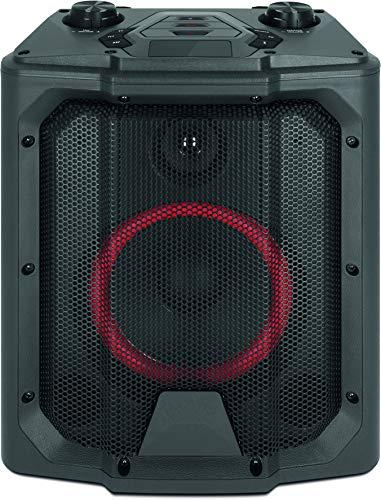 TechniSat BLUSPEAKER BOOM - Portable Bluetooth-Box (PA-Anlage, 40 Watt, Karaokefunktion, Bluetooth-Audiostreaming, USB, AUX in, Mikrofon- und Gitarrenanschluss, Akku, bis zu 20 Stunden Akkulaufzeit)