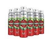 Old Spice Citron - Desodorante Spray antitranspirante, pack de 6 x 150 ml, total de 900 ml