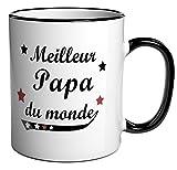 Tasse à café / Cadeau message 'Meilleur Papa du monde'