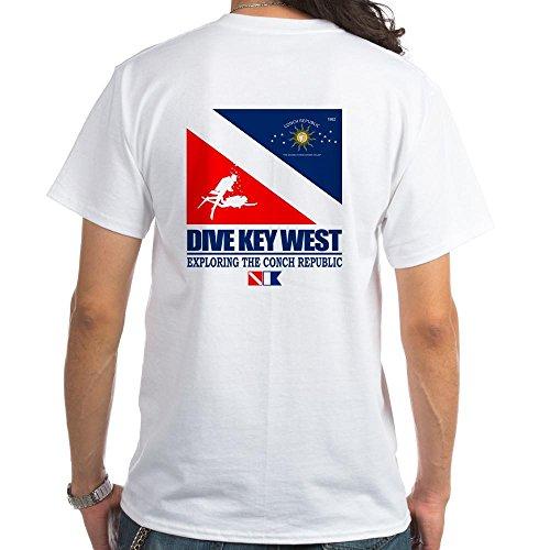 CafePress Dive Key West T-Shirt 100% Cotton T-Shirt, White