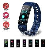KJH21 Fitness Tracker HR, Pulsera Inteligente con Monitor de frecuencia cardíaca, IP67,...