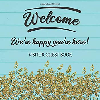 Visitor Guest Book Welcome We re Happy You re Here!  Sign In Log Book For Vacation Rentals AirBnB Bed & Breakfast Beach House Guest House & More  .. Design  Welcome Visitor Guest Book Series