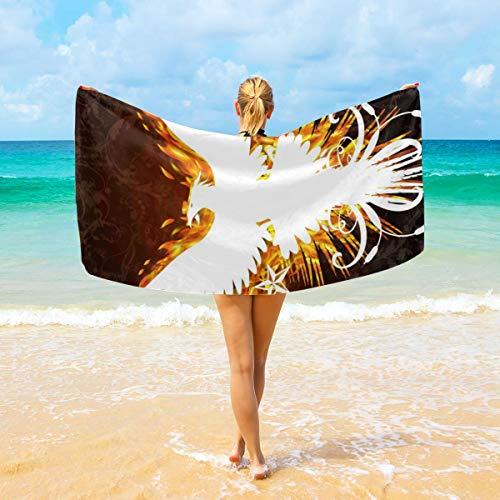 "Sophia CunhaS Microfiber Bath Towels Super Soft Absorbent Towels for Hotel/Spa/Pool/Gym/Bathroom/Beach - 32""X64"", White Phoenix"