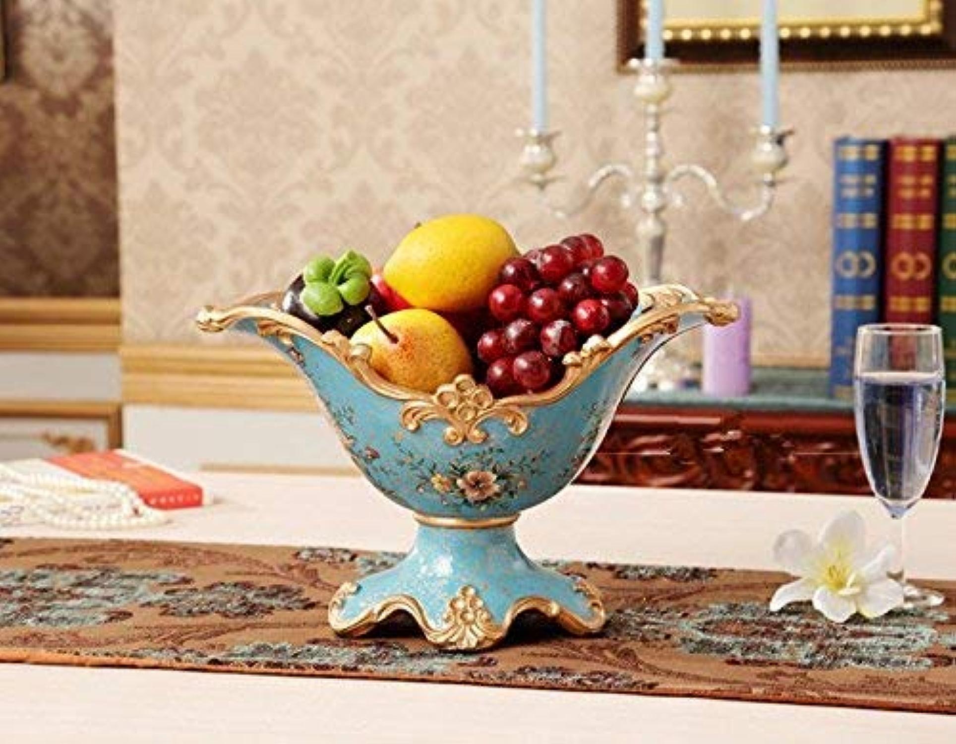 GWFVA Résine Pastorale Artisanat Grande Assiette de Fruits Assiette de Fruits secs Assiette de Fruits de Salon décoration décorative