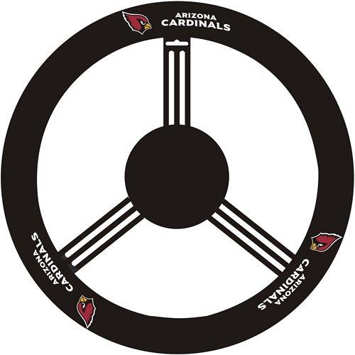 Fremont Die NFL New Orleans Saints Leather Steering Wheel Cover, Fits Most Steering Wheels,...