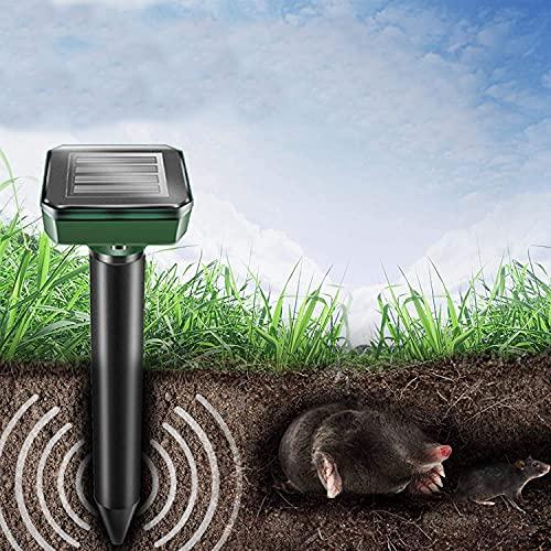 ZMME Solar Power Ultrasonic Mice Gopher Mole Pest Snake Rodent Repellent Expeller (Round 2pcs)