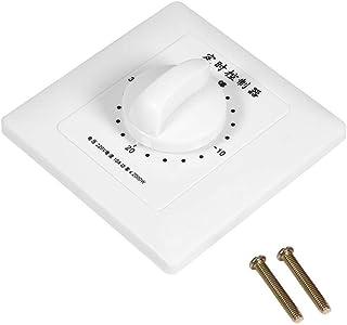 Durable Montaje en pared Calidad Plástico Temporizador de bomba de alta potencia Interruptor de tiempo mecánico Control de cuenta regresiva 86 Panel para ventilador Calentador de agua(30 minutos)