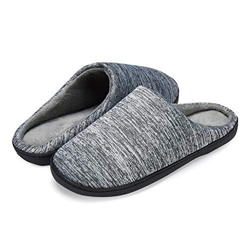 LeKuni Mujer y Hombre Espuma Memory Zapatillas de Interior Zapatos Antideslizantes Zapatillas de casa Ultraligero cómodo y Antideslizante Pantuflas de casa para (MT_HUISE_38)