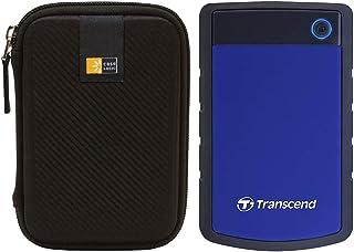 ترانسيند 4 تيرابايت USB 3.1 الجيل 1 ستورجيت هارد محمول مقاوم للصدمات 2.5 بوصة هارد خارجي TS4TSJ25H3B (أزرق داكن) + حافظة ق...