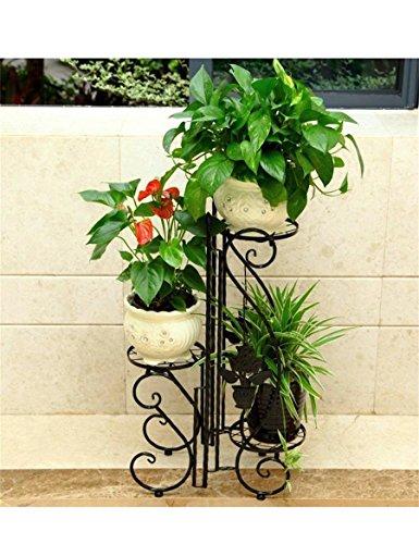 ZENGAI Plateau à fleurs multi-couches à fleurs de style européen (Couleur : Brass)