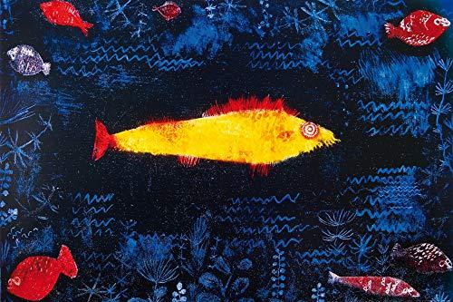 1art1 Paul Klee - Der Goldene Fisch, 1925 XXL Poster 120 x 80 cm