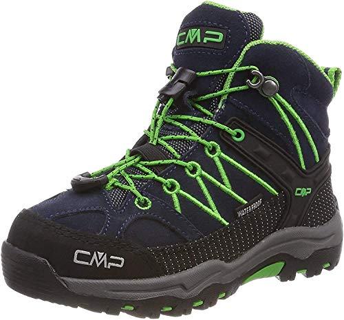 CMP Rigel Mid Wp Unisex-Kinder Trekking-& Wanderschuhe, Blau (B.Blue-Gecko), 31 EU