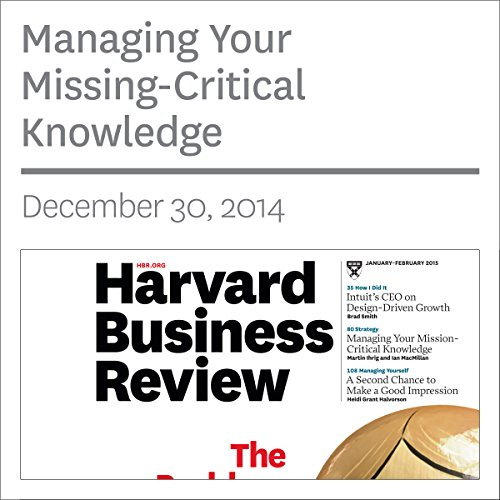Managing Your Mission-Critical Knowledge copertina