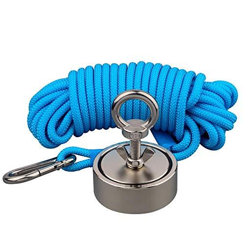 Kombinierte 400kg Doppel-Seiten vertikale magnetische Anziehungskraft Kraft Angeln Neodymmagneten mit 10m Seil