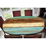 Wood Grain Texture Oval Elastic Polyester...