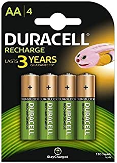 Duracell Plus 5000174 AA Rechargeable Batteries 1300 mAh (Pack of 4, Green)
