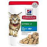 Hills Pet Nutrition S.L. SP Feline Kitten Blue Fish 12 Bolsitasx85G 604038 * 1000 g