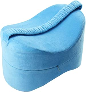 Prettyia Knee Pillow for Pregnancy, Hip and Leg Fatigue Relief - Memory Foam Wedge Contour Orthopedic Knee Pillow - Blue