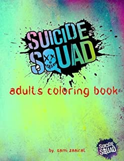 Suicide squad: adults coloring book