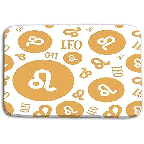 SESILY Fußmatten Teppich Sternzeichen Leo Astrologischer Kalender Sternzeichen Horoskop Sternzeichen Leo Astrologische Badematten