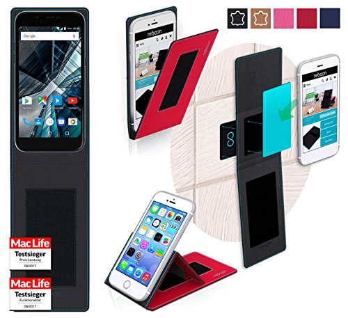 reboon Hülle für Archos 50 Graphite Tasche Cover Case Bumper   Rot   Testsieger
