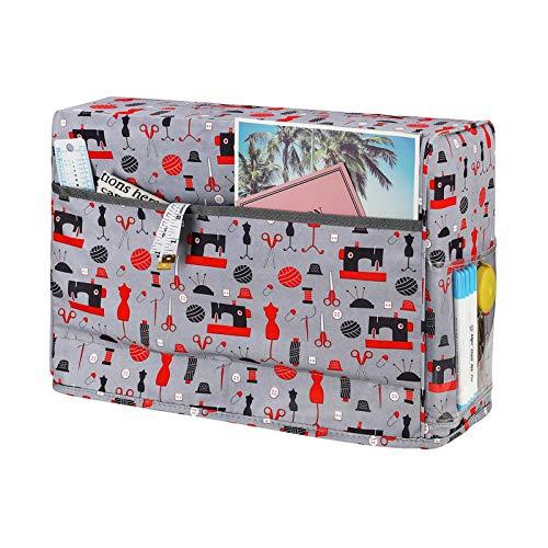 Funda antipolvo para máquina de coser, funda antipolvo con 3 bolsillos para la mayoría de máquinas de coser estándar, funda antipolvo para coser, accesorios adicionales