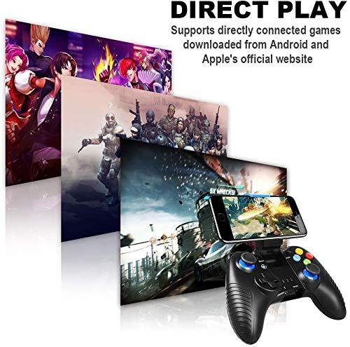 Handy Controller Wireless, PowerLead Gamepad für iPad Mini/Mobile, Wireless Game controller für PUBG, Gamepad support iOS/Android